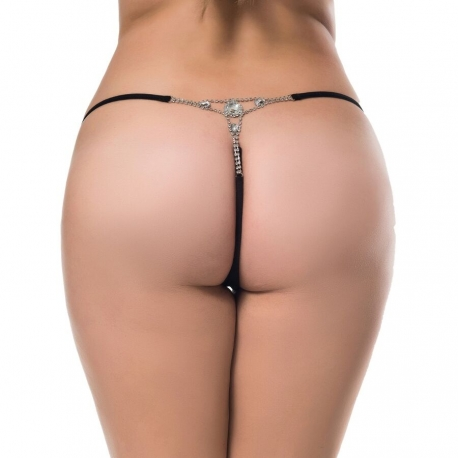 TANGA CON BRILLANTE L/XL